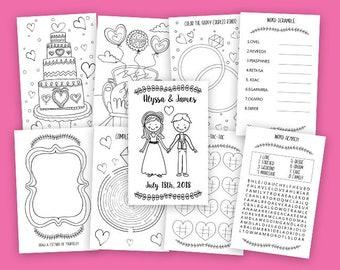 Printable Kids Wedding Coloring Book