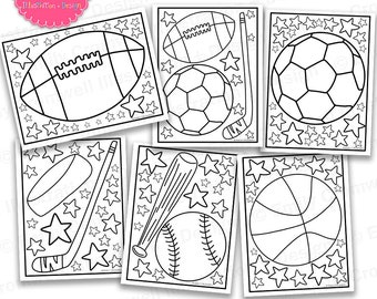 Sports Coloring Page Etsy