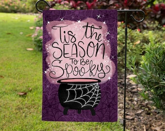 Tis the Season to be Spooky Yard Flag - Halloween Decor - Outdoor Decor - Garden Flag