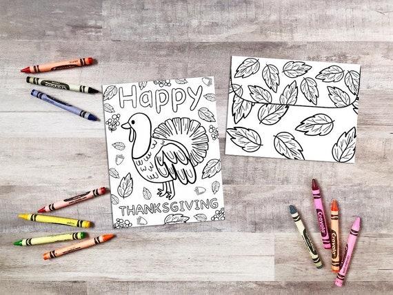 Printable Thanksgiving Card  Coloring Thanksgiving Card