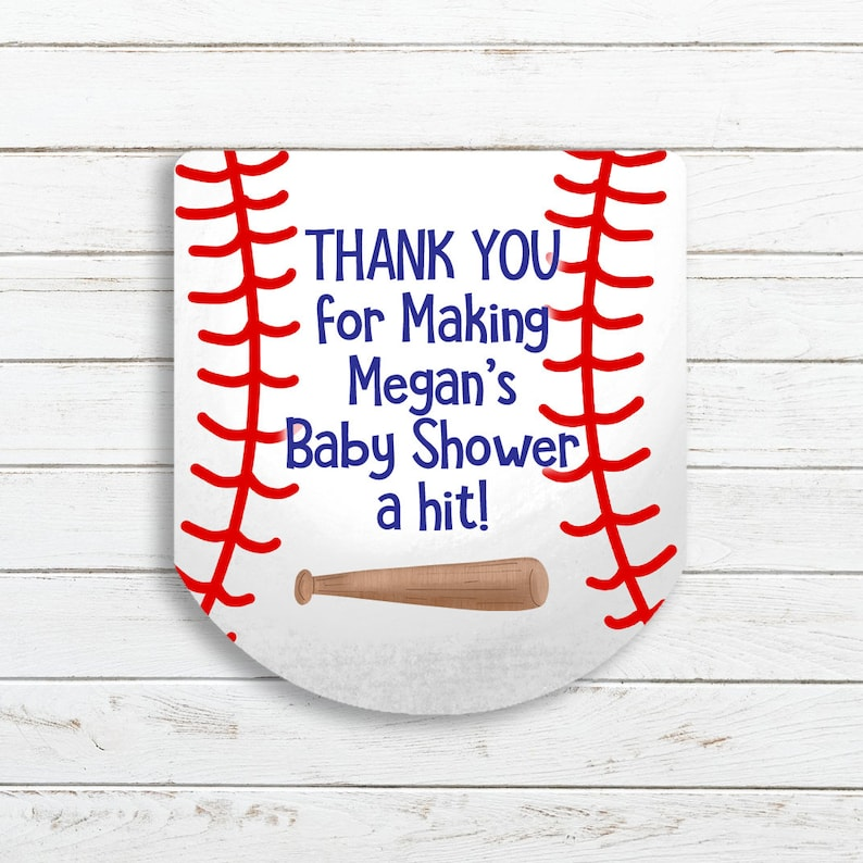 Baby Shower Sheet of 30 Labels Baseball Baby Shower Sanitizer Labels Baby Boy Sanitizer Labels Sanitizer Favor Stickers