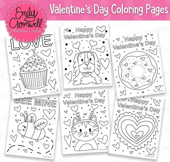 Valentine's Day Coloring Pages Printable Coloring Pages