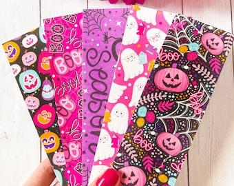 Spooky Season Halloween Bookmark Set or Individual, Matte Bookmark, Cute Bookmark, Ghost, Spooky Season, Pumpkin