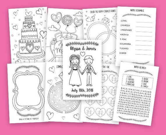 picture regarding Printable Wedding Activity Book referred to as Printable Little ones Marriage Coloring Guide - Marriage Match Ebook - Custom made Coloring E-book - Do it yourself Wedding ceremony - Printable Coloring Webpages