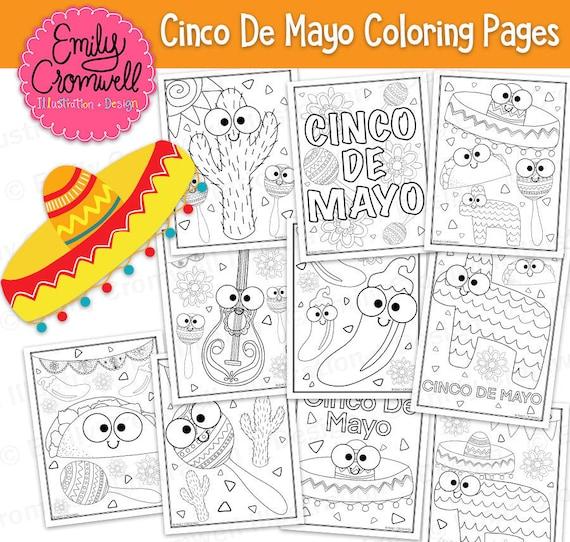 Cinco de Mayo Coloring Pages | 542x570