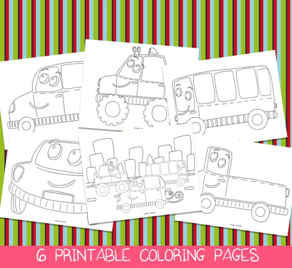 Car Coloring Pages Printable Coloring Pages Car Birthday ...