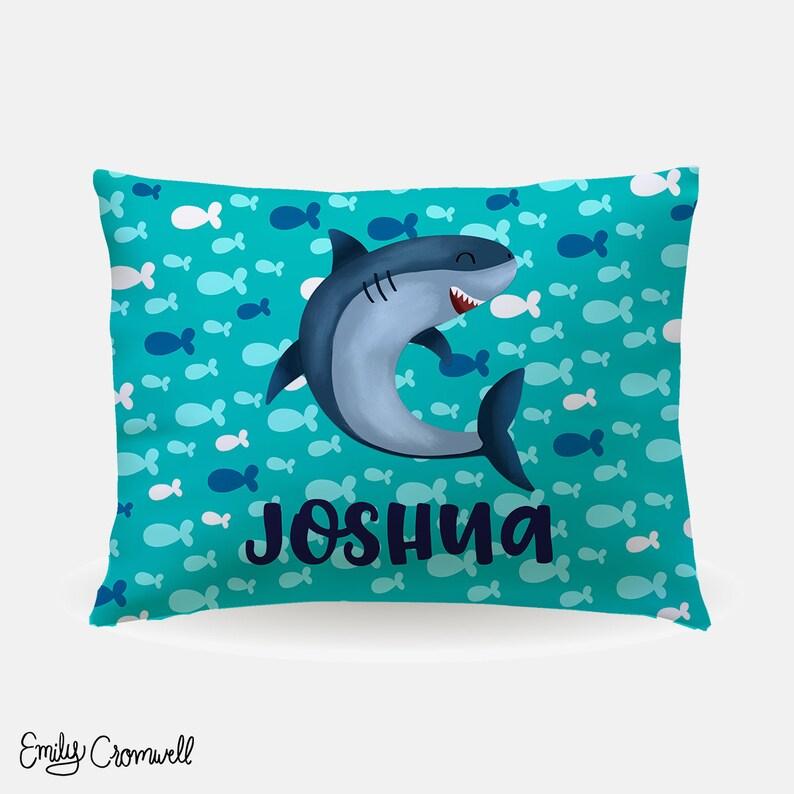 c356b1fee2c Personalized Kids Pillowcase - Shark Pillowcase - Boys Pillowcase - 20x30  Custom Pillowcase - Standard Pillowcase - Kids Pillowcase