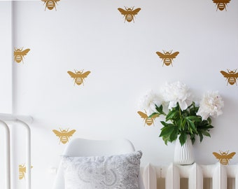 Home Decor Bee Wall Sticker Decal Illustration Wall Stickers Illustrations Animals Wall Stickers Wall Art Wall Decals