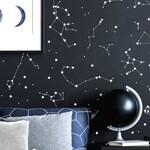 Constellation Wall Decals, Kids Room Decor, Constellation Star Map, Constellation Decals, Zodiac Constellations Wall Art, Boy Nursery Decor