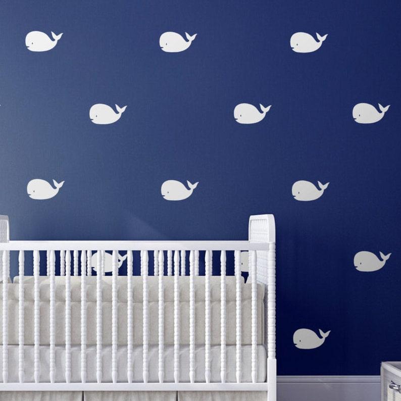 whale nursery wall art decals nursery decor nautical   etsy