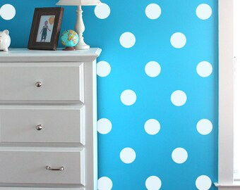 Vinyl Wall Sticker Decal Art - Polka Dots - white polka dot vinyl decal for your wall. Polka dot wall decal