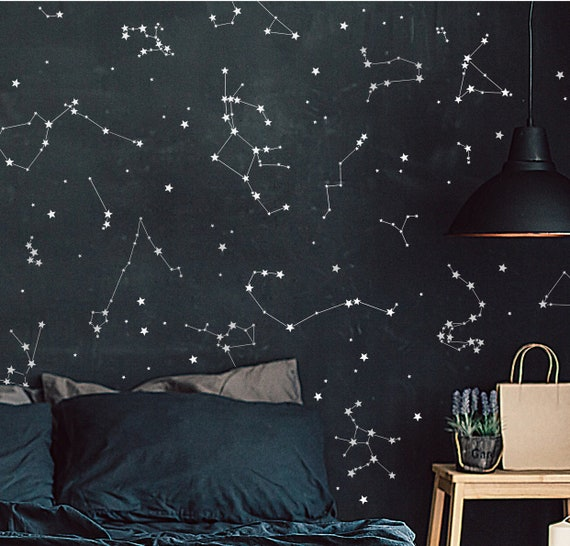 Constellation Stickers Constellation Decals Astronomy Wall Etsy