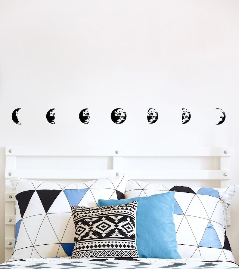 Bohemian Wall Decor Scandinavian Wall Art Moon Phase Decals Small Moon Phase Decor Moon Cycle Scandinavian Decor Nursery Wall Decals