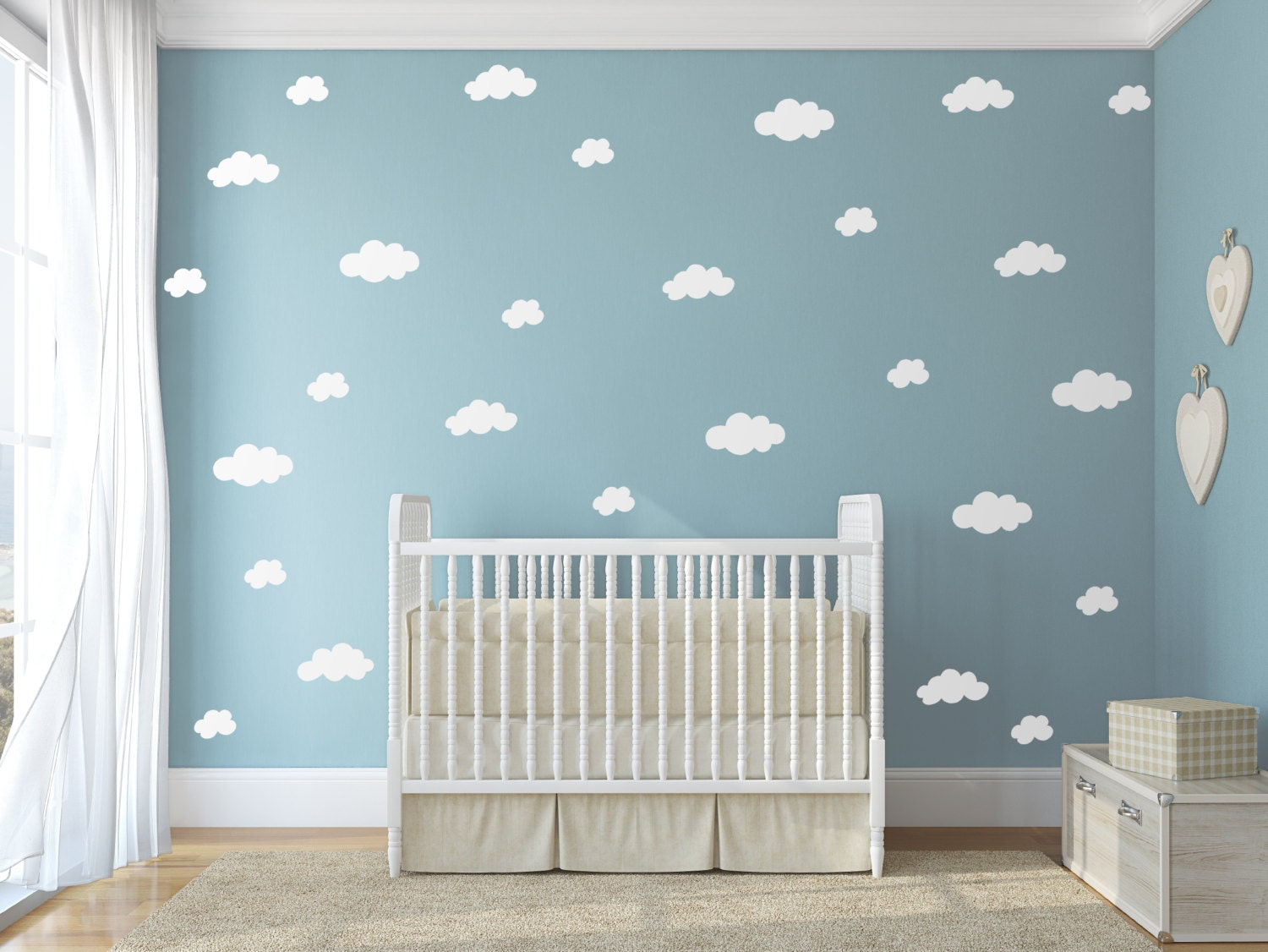 White Cloud Decals Wall Decor Vinyl Wall Decor Stickers Etsy