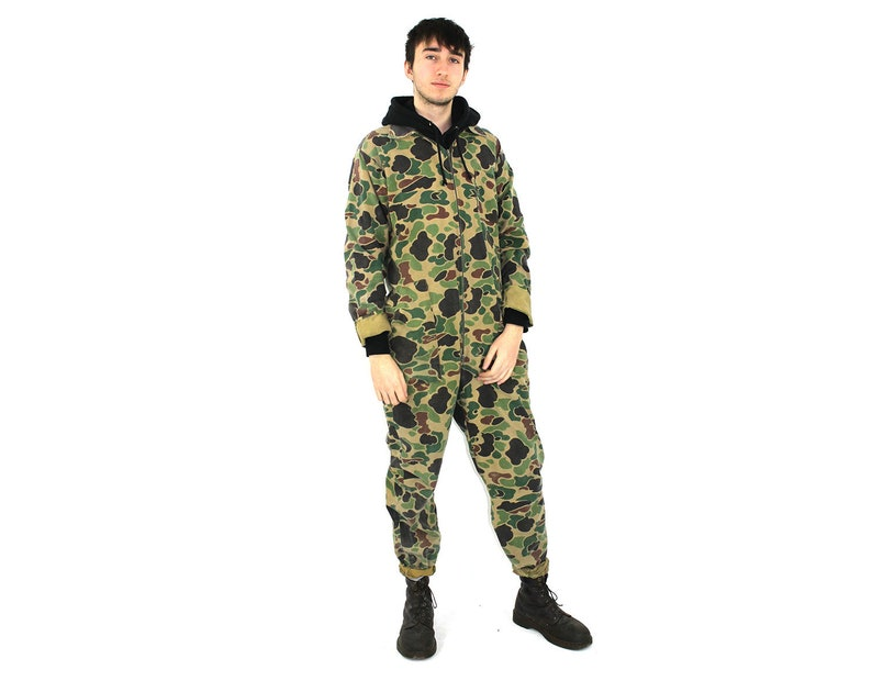 Camo Flightsuit   70s Jumpsuit   Mens Womens Unisex Army  80846c3e7