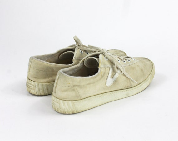 Beige Tretorn Shoes // Beige Sneakers / Canvas Tr… - image 6