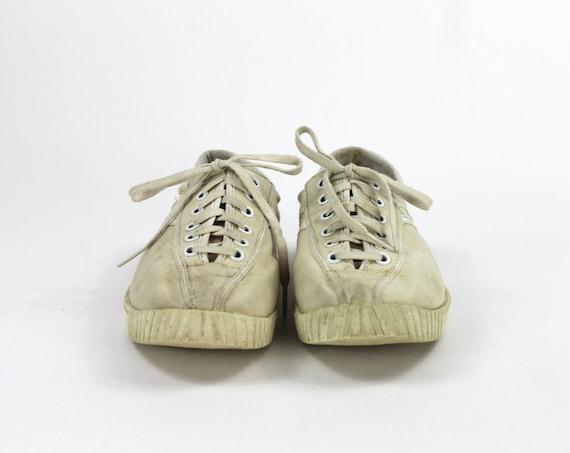 Beige Tretorn Shoes // Beige Sneakers / Canvas Tr… - image 3