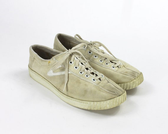 Beige Tretorn Shoes // Beige Sneakers / Canvas Tr… - image 2