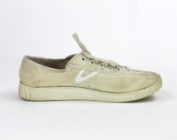 Beige Tretorn Shoes // Beige Sneakers / Canvas Tre