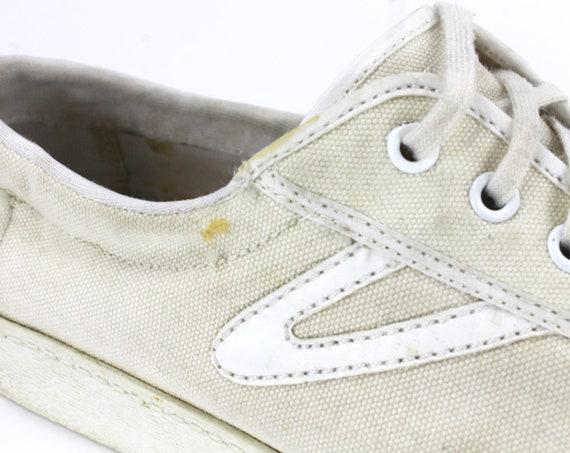 Beige Tretorn Shoes // Beige Sneakers / Canvas Tr… - image 8