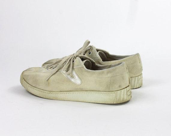 Beige Tretorn Shoes // Beige Sneakers / Canvas Tr… - image 4