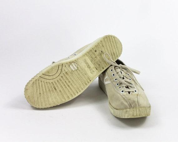 Beige Tretorn Shoes // Beige Sneakers / Canvas Tr… - image 7