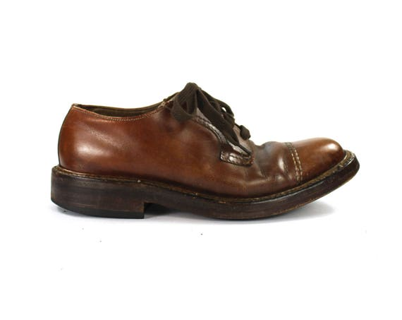 Size 7 // Mens Cap Toe Oxford Shoe // Brown Oxford