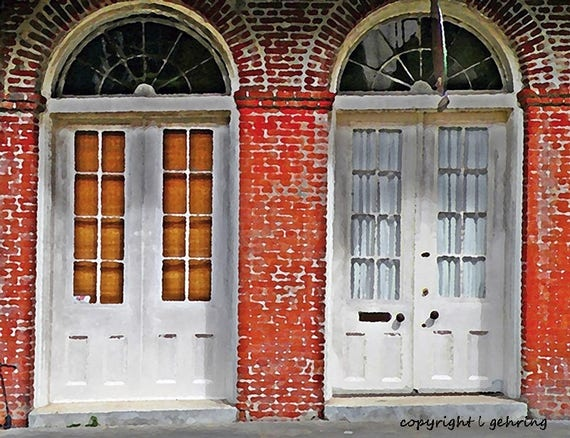 image 0 - Scenic French Quarter New Orleans Art Deco Antique Historic Etsy