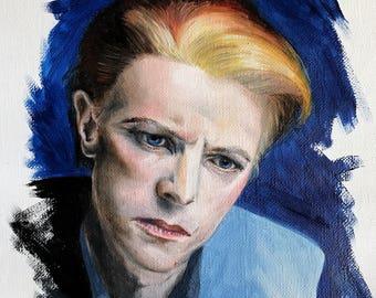 "Bowie oil study. Oil on Italian linen. 12.5 x 15.5cm, 5 x 6"" (artwork)"