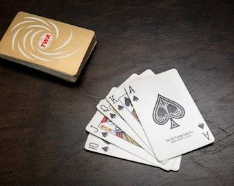 Vintage Royale Double Deck Bridge Cards  60s 70s Bridge Cards  Abstract Design