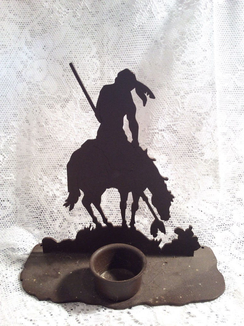 End Of The Trail Metal Sculpture Native American Home Decor