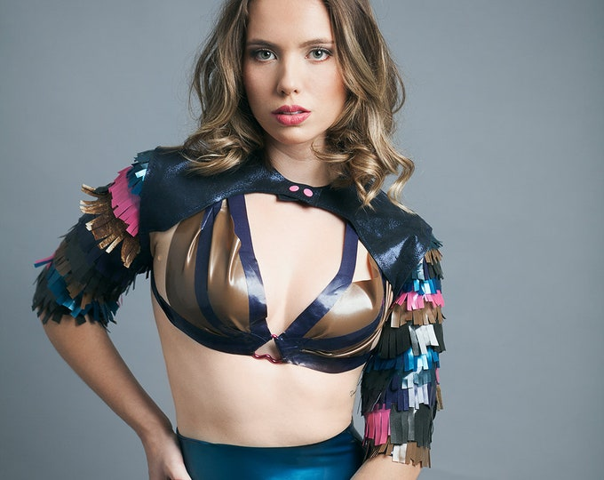 Latex Wrap Bra