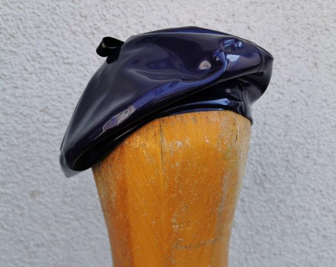 Latex Beret - Purple