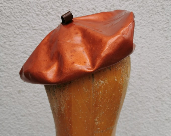Latex Beret - Copper