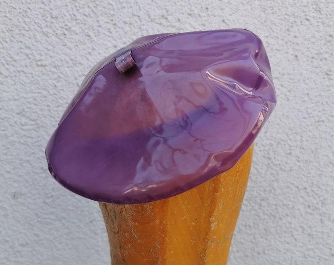 Latex beret 'Lilac'