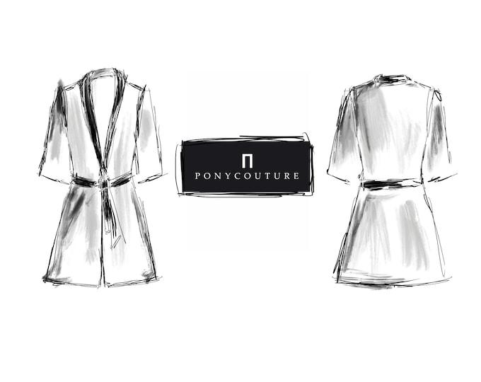Latex Kimono Oberteil