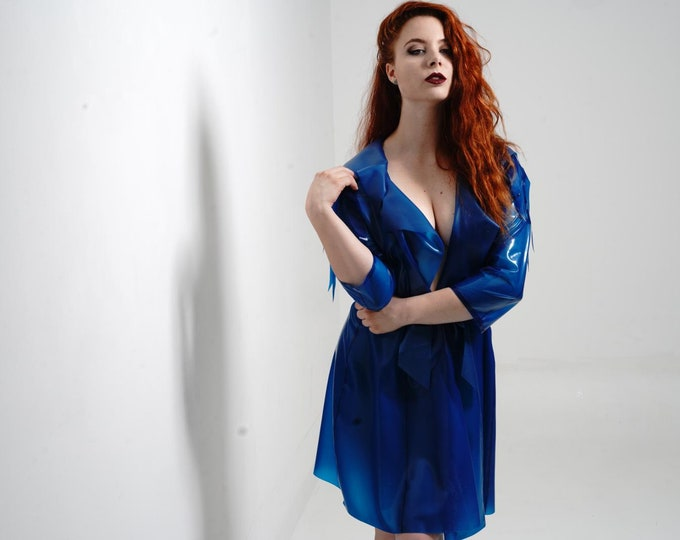 transparent latex trench coat 'Belaqua'
