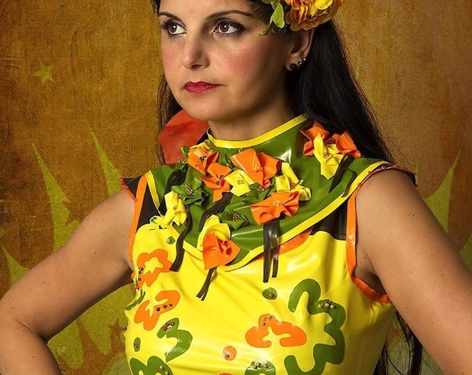 Latex Collar 'Fleur'
