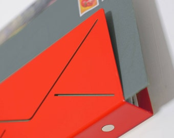 Modern magnetic mail and key organizer for wall