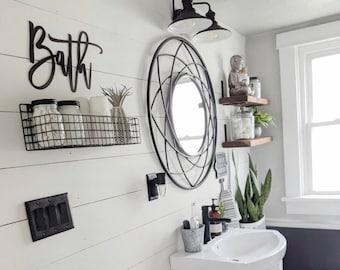 Metal Bathroom Decor Etsy