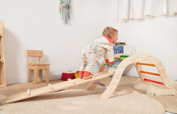 Holz Kletter Bogen : Regenbogen pikler klettern bogen mit reversiblen board etsy