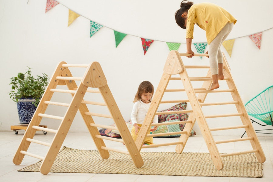 Wooden Climbing Foldable Large Pikler Triangle Climbing