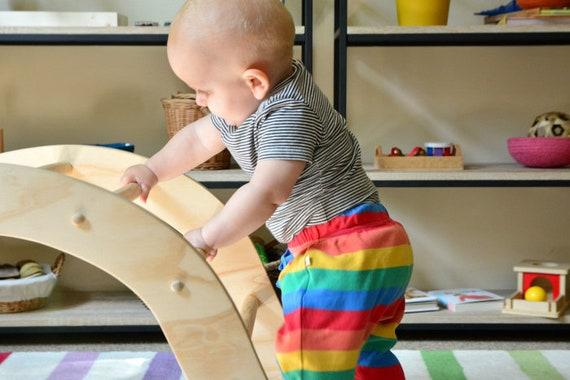 Holz Kletter Bogen : Pikler regenbogen klettern bogen für babys inspiriert etsy