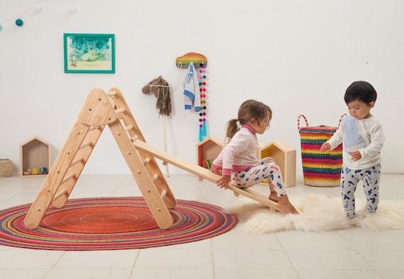 Kletter Dreieck Baby : Montessori klettern rahmen und reversible rampe pikler etsy