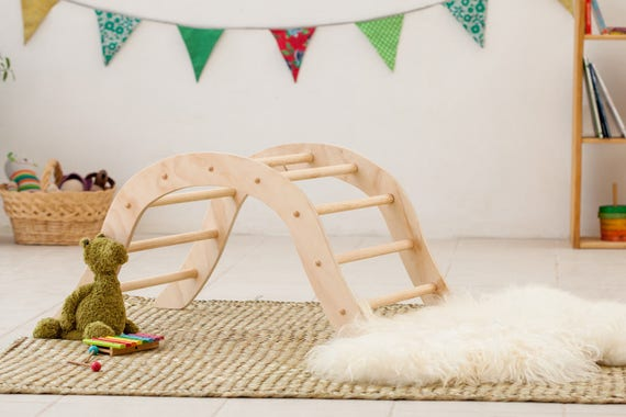 Kletterdreieck Pikler Erfahrungen : Pikler climbing arch for babies inspired etsy