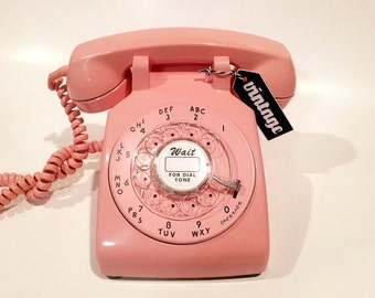 WORKING- Pink Rotary Phone 1969