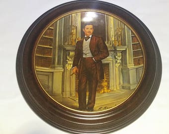 Rhett - Gone with the Wind - Vintage Knowles Collectible Plate in Van Hygan & Smythe Frame