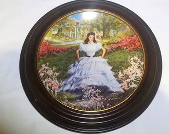 Scarlett - Gone with the Wind - Vintage Knowles Collectible Plate in Van Hygan & Smythe Frame
