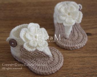 b34ea3c43350de Crochet baby sandals