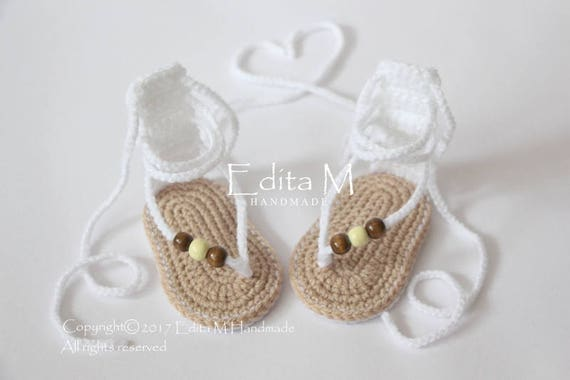 3ef3ea3d4eb Sale crochet baby sandals gladiator sandals baby slippers